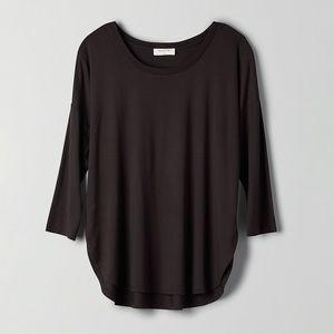 Aritzia Black Long Sleeve Shirt, Babaton Norris